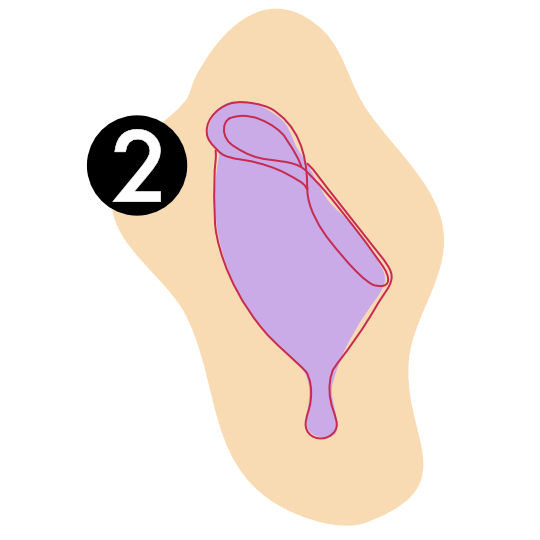 Menstrual Cup Punch Fold Technique