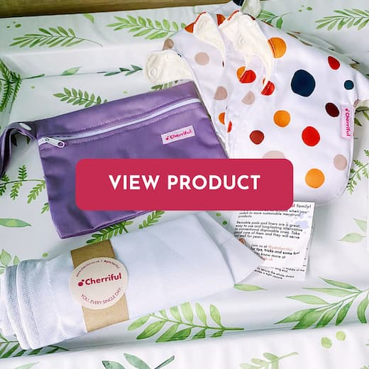 reusable cloth pads package with carrier bag and washing bag