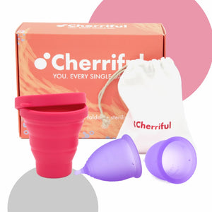 Duopack Cherriful Period Cup & Steriliser