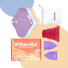 Load image into Gallery viewer, Cherriful Period Cup Starter Kit Duo