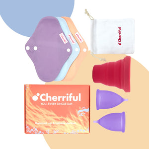 Cherriful Period Cup Starter Kit Duo