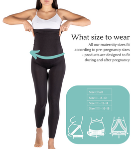 Maternity Leggings - Belly Support built-in