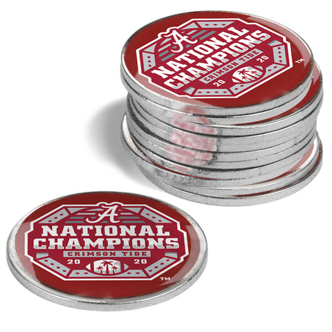 Alabama Crimson Tide National Championship - 12 Pack Ball Markers