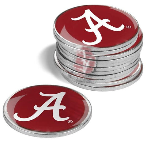 Alabama Crimson Tide - 12 Pack Ball Markers - Linkswalkerdirect