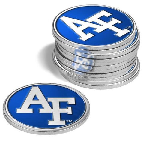 Air Force Falcons - 12 Pack Ball Markers - Linkswalkerdirect