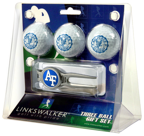 Air Force Falcons - Kool Tool 3 Ball Gift Pack - Linkswalkerdirect