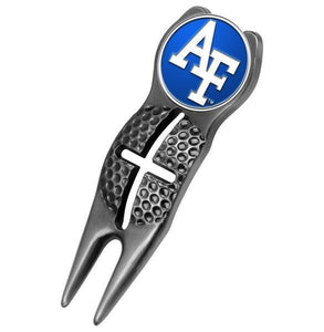 Air Force Falcons - Crosshairs Divot Tool  -  Black - Linkswalkerdirect