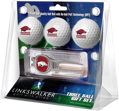 Arkansas Razorbacks - Kool Tool 3 Ball Gift Pack - Linkswalkerdirect