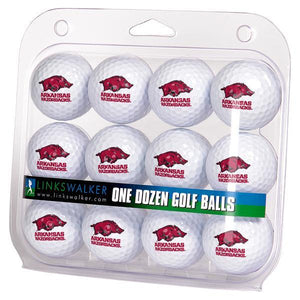Arkansas Razorbacks - Dozen Golf Balls - Linkswalkerdirect