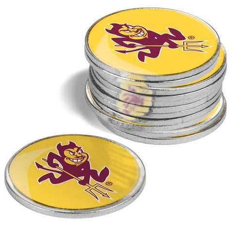 Arizona State Sun Devils - 12 Pack Ball Markers - Linkswalkerdirect