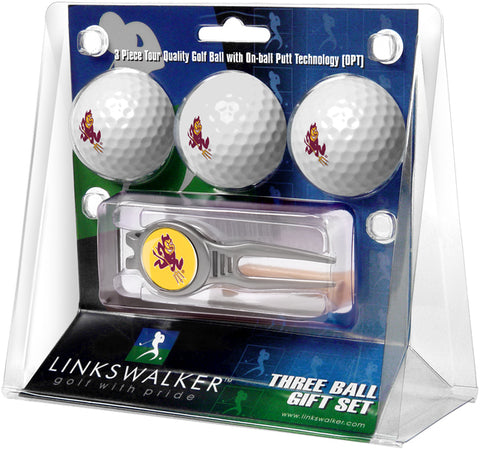 Arizona State Sun Devils - Kool Tool 3 Ball Gift Pack - Linkswalkerdirect