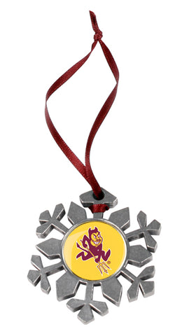 Arizona State Sun Devils - Snow Flake Ornament - Linkswalkerdirect