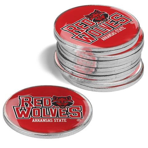 Arkansas State Red Wolves - 12 Pack Ball Markers