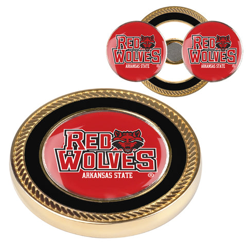 Arkansas State Red Wolves - Challenge Coin / 2 Ball Markers