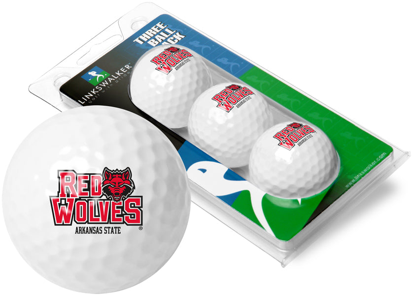 Arkansas State Red Wolves - 3 Golf Ball Sleeve