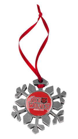 Arkansas State Red Wolves - Snow Flake Ornament