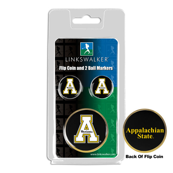 Appalachian State Mountaineers - Flip Coin and 2 Golf Ball Marker Pack