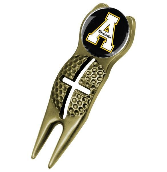 Appalachian State Mountaineers - Crosshairs Divot Tool  -  Gold - Linkswalkerdirect