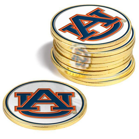 Auburn Tigers - 12 Pack Ball Markers - Linkswalkerdirect