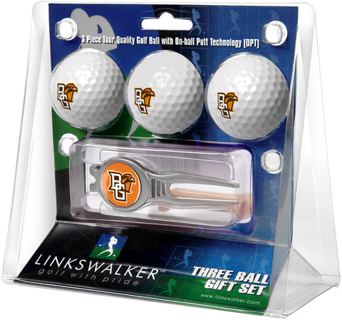 Bowling Green Falcons - Kool Tool 3 Ball Gift Pack - Linkswalkerdirect