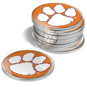 Clemson Tigers - 12 Pack Ball Markers