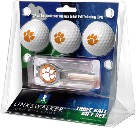 Clemson Tigers - Kool Tool 3 Ball Gift Pack - Linkswalkerdirect