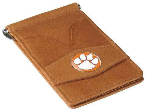 Clemson Tigers Lightweight Leather Golf Wallet - Linkswalkerdirect