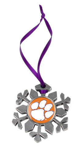 Clemson Tigers - Snow Flake Ornament - Linkswalkerdirect