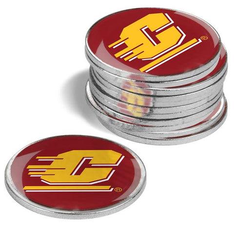 Central Michigan Chippewas - 12 Pack Ball Markers