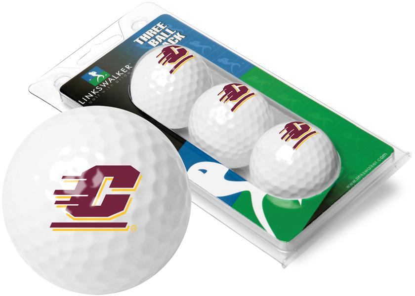 Central Michigan Chippewas - 3 Golf Ball Sleeve