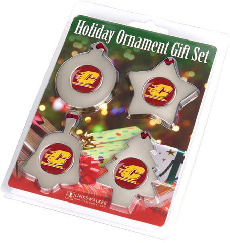 Central Michigan Chippewas - Ornament Gift Pack - Linkswalkerdirect