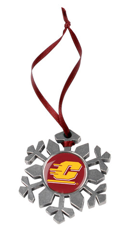 Central Michigan Chippewas - Snow Flake Ornament - Linkswalkerdirect