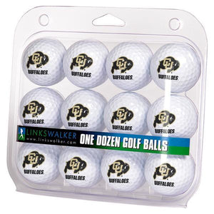 Colorado Buffaloes - Dozen Golf Balls - Linkswalkerdirect