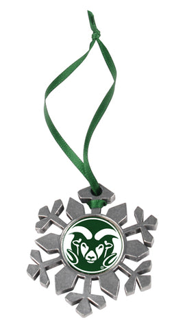 Colorado State Rams - Snow Flake Ornament - Linkswalkerdirect