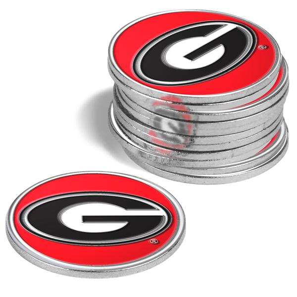 Georgia Bulldogs - 12 Pack Ball Markers