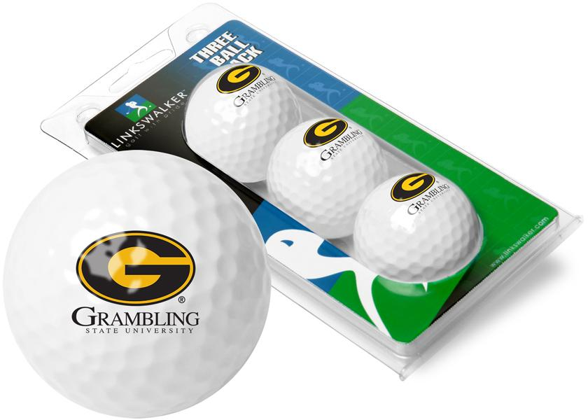 Grambling State University Tigers - 3 Golf Ball Sleeve
