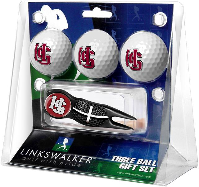 Hampden Sydney College - Black Crosshair Divot Tool 3 Ball Gift Pack