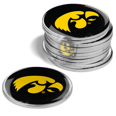 Iowa Hawkeyes - 12 Pack Ball Markers
