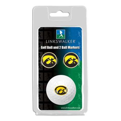 Iowa Hawkeyes - Golf Ball and 2 Ball Marker Pack