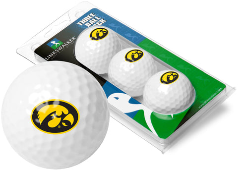 Iowa Hawkeyes - 3 Golf Ball Sleeve