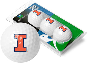 Illinois Fighting Illini - 3 Golf Ball Sleeve