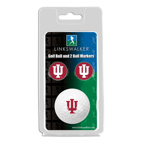 Indiana Hoosiers - Golf Ball and 2 Ball Marker Pack