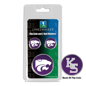 Kansas State Wildcats - Flip Coin and 2 Golf Ball Marker Pack