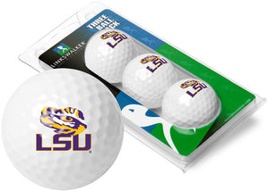 LSU Tigers - 3 Golf Ball Sleeve