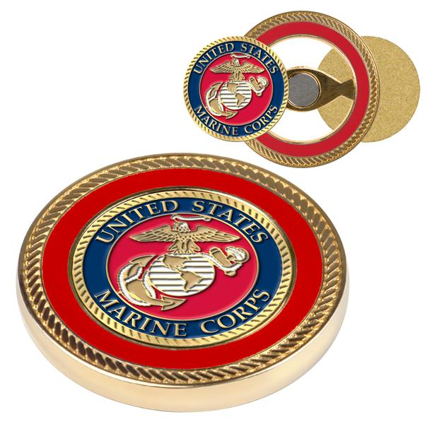 US Marines - Challenge Coin / 2 Ball Markers