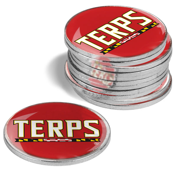 Maryland Terrapins - 12 Pack Ball Markers