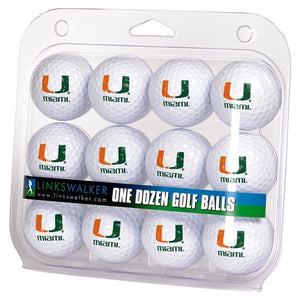 Miami Hurricanes - Dozen Golf Balls - Linkswalkerdirect