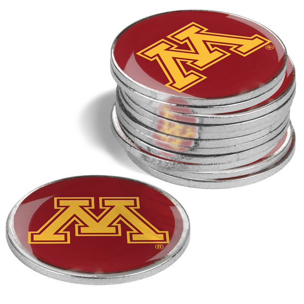 Minnesota Gophers - 12 Pack Ball Markers