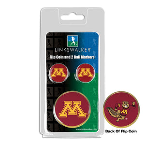 Minnesota Gophers - Flip Coin and 2 Golf Ball Marker Pack