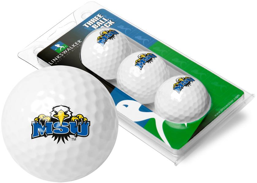 Morehead State University Eagles - 3 Golf Ball Sleeve